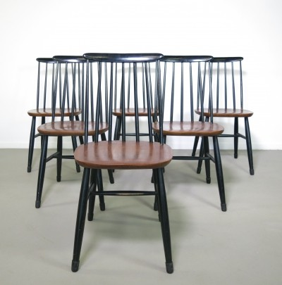Set of 6 Ilmari Tapiovaara dinner chairs, 1960s