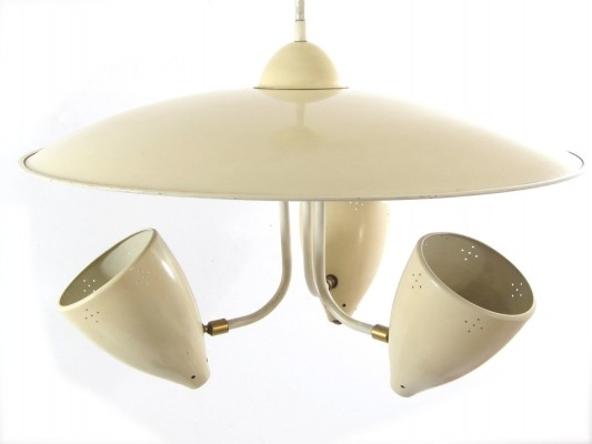 Hala vintage ceiling lamp by H. Busquet, 1950s