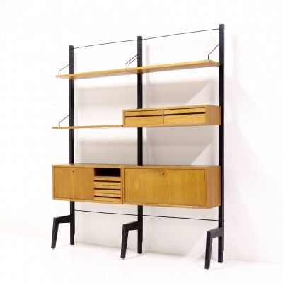 Free standing Poul Cadovius Royal System Teak Wall Unit, 1960s