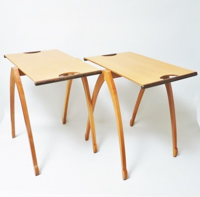 Pair of Gacela side tables by Oscar Tusquets for Driade, 1980s