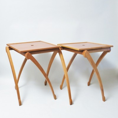 Pair of Gacela side tables by Oscar Tusquets for Driade, 1990s