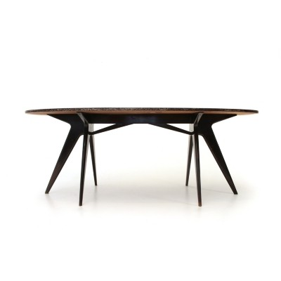 Italian mid-century dining table with oval top,1950s