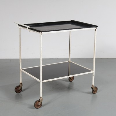 Biaritz serving trolley by Mathieu Matégot for Artimeta, 1950s