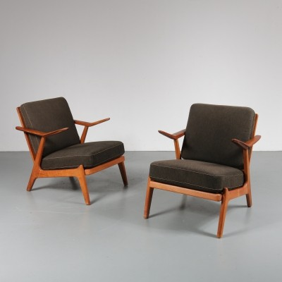 Pair of lounge chairs by Arne Wahl Iversen for Komfort, 1950s