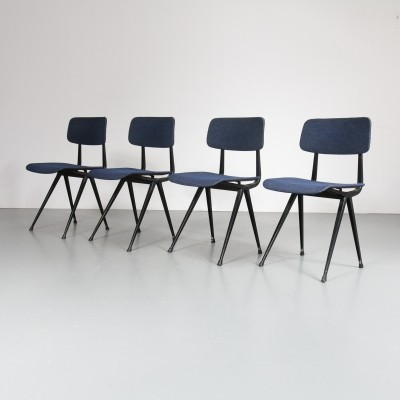Set of 4 dining chairs by Friso Kramer for Ahrend de Cirkel, 1950s