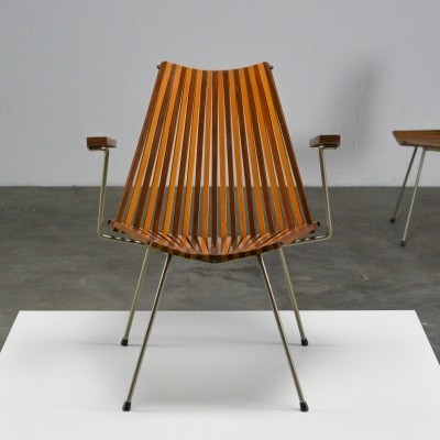 Teak & Berch 'Slats' Lounge chair by Rohé Noordwolde