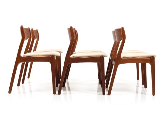 Set of six Erik Buch Dining Chairs in Teak