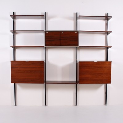 CSS rosewood wall unit by George Nelson for Herman Miller