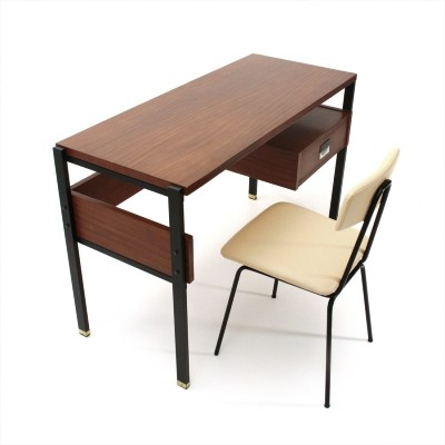 Italian mid-century desk & chair by Giuseppe Brusadelli, 1950s