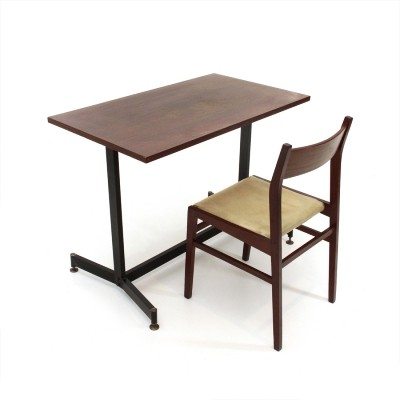 Italian mid-century teak desk & chair, 1950s