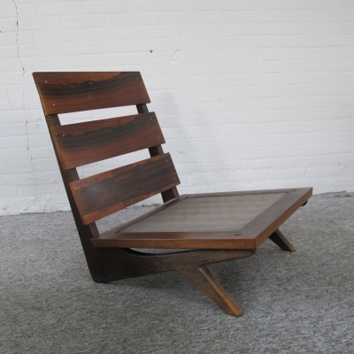 Vintage rosewood lounge chair, 1960s