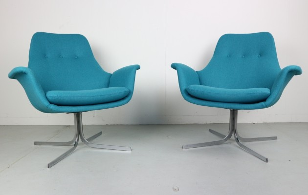 Pair of F547 lounge chairs by Pierre Paulin for Artifort, 1960s