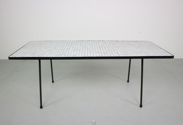 Rudolf Wolf caramic tiles coffee table for Elsrijk, 1950s