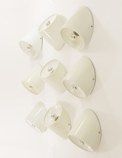 Set of 'No. 235/b' wall or ceiling fixtures by Cini Boeri for Arteluce, 1970s