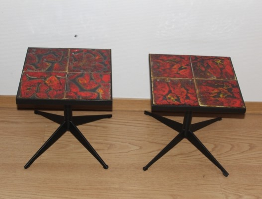 Set of two coffee tables by La Roue de Vallauris