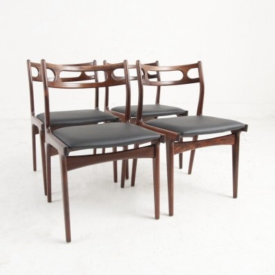 Set of four dining chairs in rosewood by Johannes Andersen, 1967
