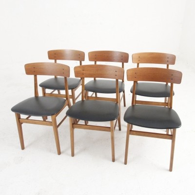 Set of 6 dining chairs from Danish Farstrup Møbelfabrik