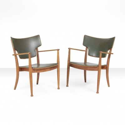 Pair of Peter Hvidt & Orla Mølgaard Nielsen Portex armchairs for Fritz Hansen