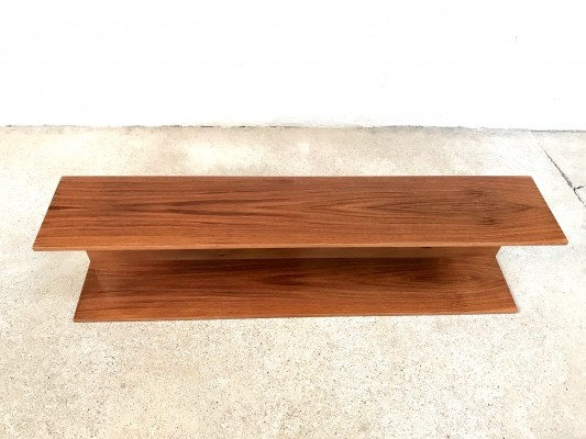Minimalist Walnut Shelf by Walter Wirz for Wilhelm Renz, 1960s