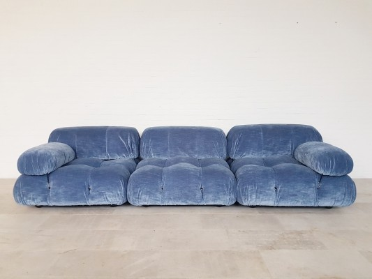 Camaleonda sofa in light blue by Mario Bellini for B&B Italia, 1970s