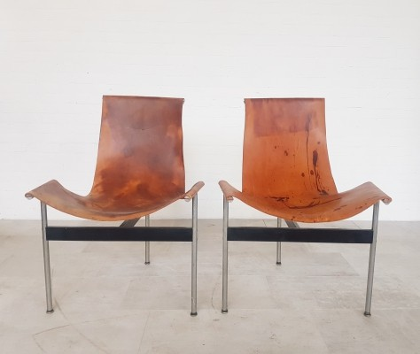 Set of 2 3LV T-chairs for Laverne International, 1950s