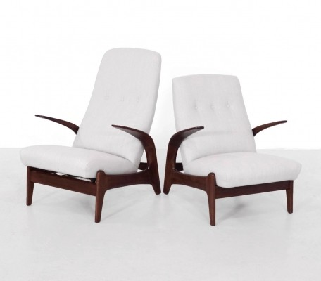 Pair of lounge chairs by Rolf Rastad & Adolf Relling for Gimson & Slater, 1960s
