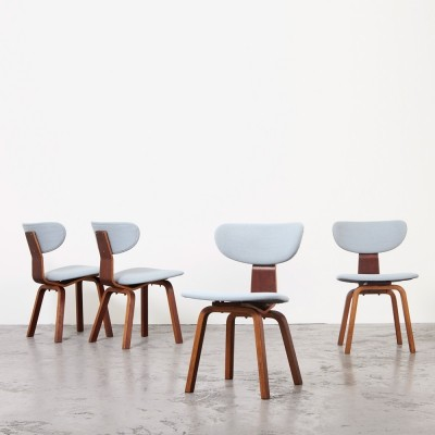 Cees Braakman Set of 4 Dining Chairs SB37 for Pastoe, 1950s