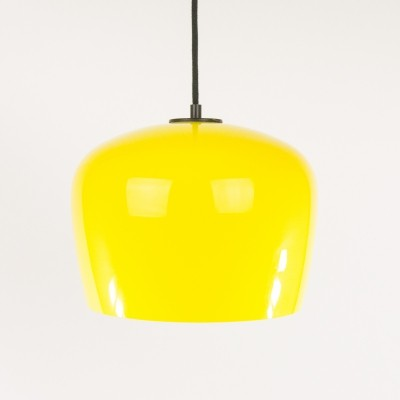 Yellow Glass pendant by Alessandro Pianon for Vistosi, 1960s