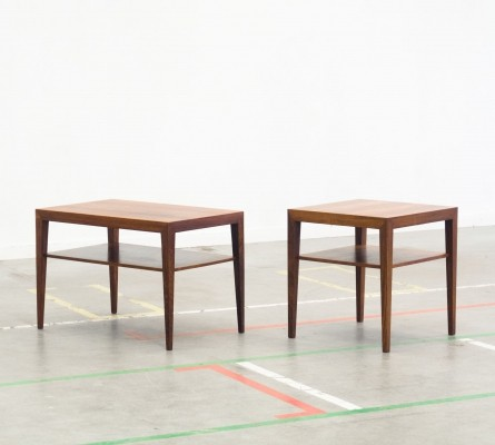 Pair of side tables by Severin Hansen Jr for Haslev Møbelsnedkeri, 1960s