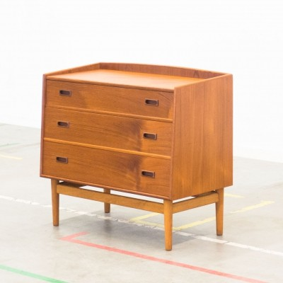 Danish teak & oak chest of drawers with secretary function