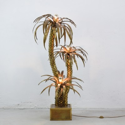 Palm tree floor lamp by Maison Jansen, France 1970's