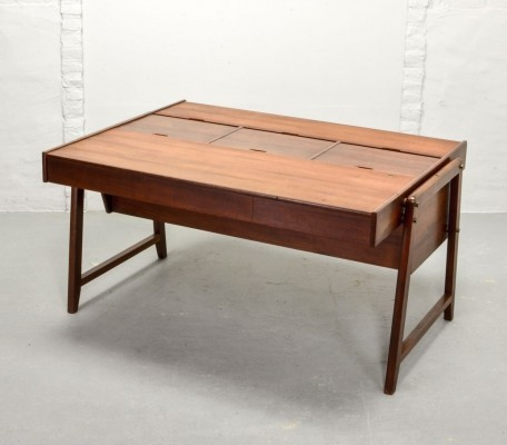 Teak Wood President Writing Desk by Clausen & Maerus for Eden, 1960s