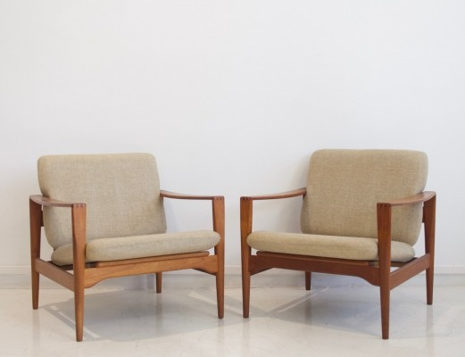 Pair of Model EK Armchairs by Illum Wikkelsø