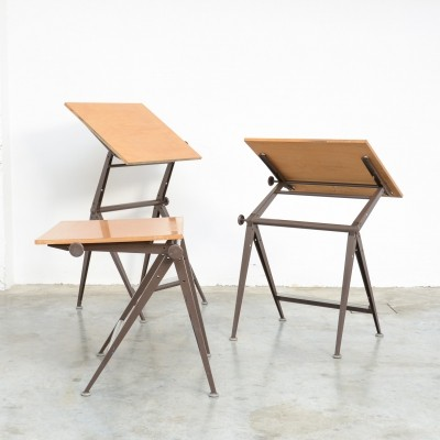 Desk & Drafting Table by F. Kramer & W. Rietveld for Ahrend De Cirkel
