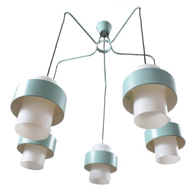 7 x Large chandelier with 5 arms, 1960s