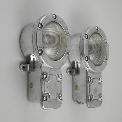 Industrial British bulkheads by Holophane