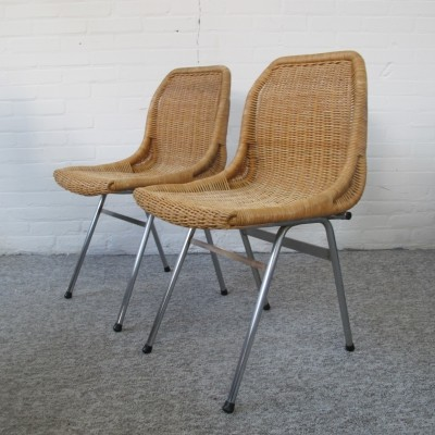 Pair of Rohé Noordwolde dining chairs, 1960s
