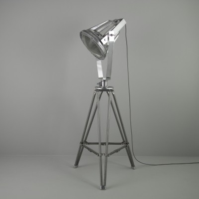 Industrial MOD munitions floor light by Simplex, 1940s