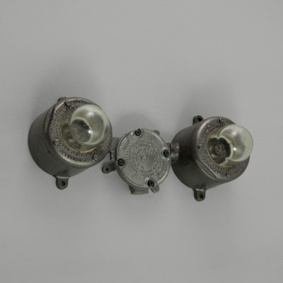 Industrial isolator wall lights by Walsall