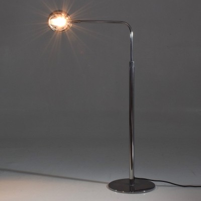 Vintage Height Adjustable Chrome Floor Lamp