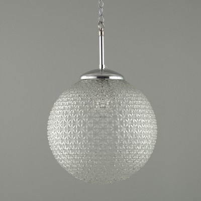 Retro glass Czech globe pendants