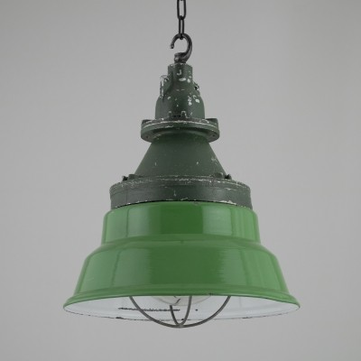 Industrial munitions store pendant lights by Heyes of Wigan