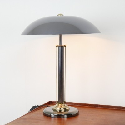 Chromed metal & brass desk lamp by Massive, 1970s
