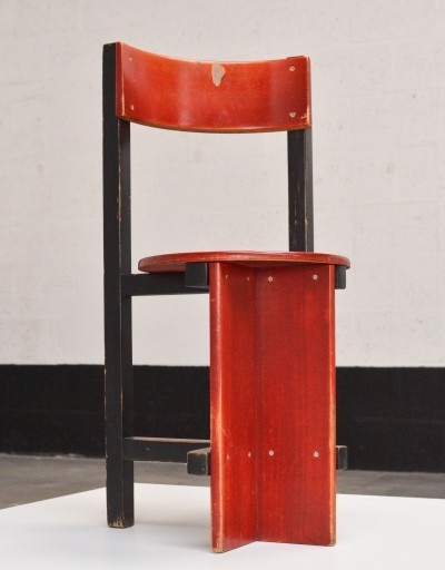 Architectonic chair by Piet Blom for the Bastille, Twente