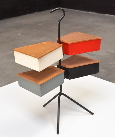 1950s 'Sewing box' or side table by Joos Teders for Metalux