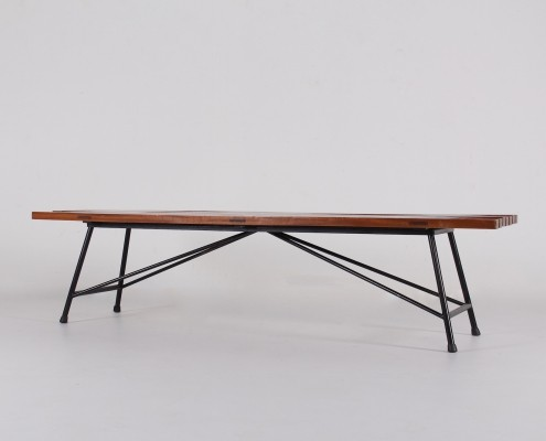 Modernist bench by Alain Richard for Meubles TV