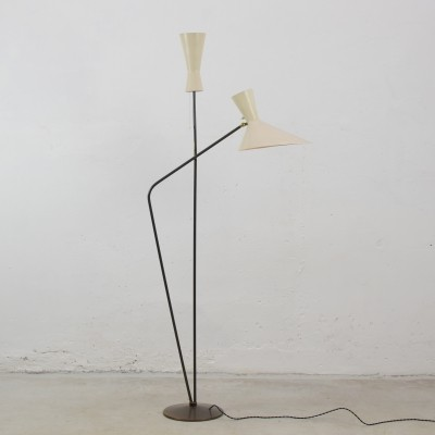 Floor lamp by Professor D. Moor for BAG Bronzewaren Fabrik, Switzerland 1953