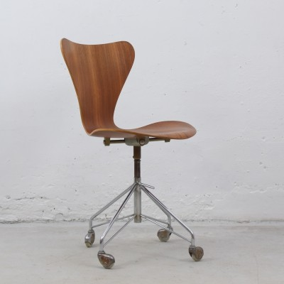 '3117' swivel desk chair by Arne Jacobsen for Fritz Hansen, Denmark 1955