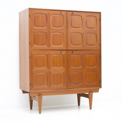 Graphic Teak Cabinet by Rastad & Relling for Bahus, Norway 1960s
