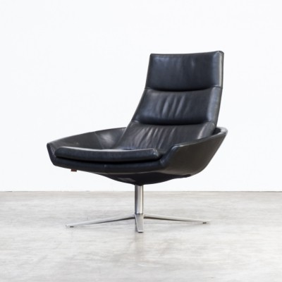 Black leather 'Hugo' chair by Montis, 1980s